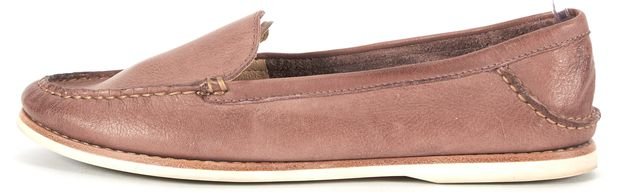 FRYE Dusty Pink Leather Quincy Venetian Boating Loafers