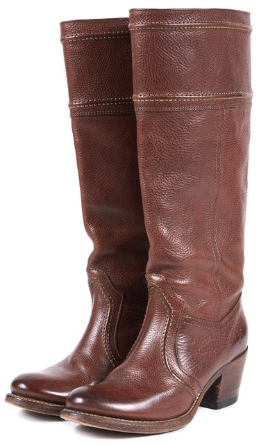 FRYE Medium Brown Leather Knee-High Boots