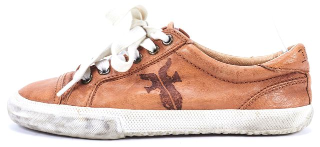 FRYE Brown Leather Kira Low Top Sneakers