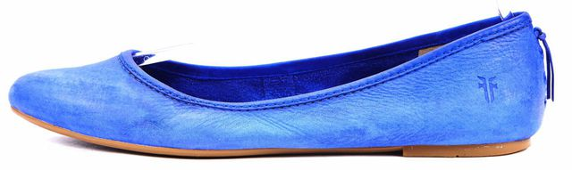FRYE Blue Nubuck Leather Regina Ballet Flats