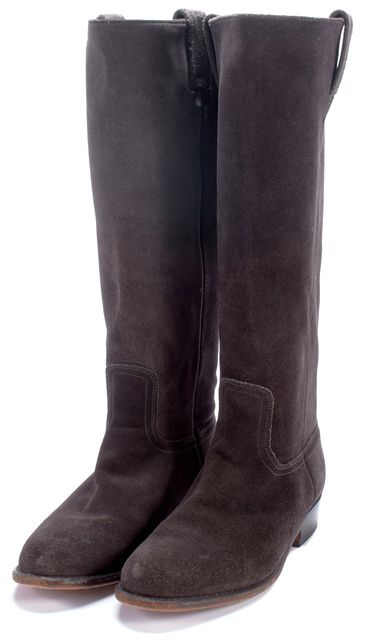FRYE Gray Suede Mid-Calf Boots