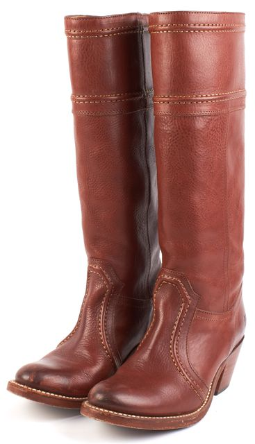 FRYE Brown Leather Knee-high Boot Boots