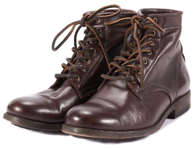 FRYE Brown Leather Ankle Boot