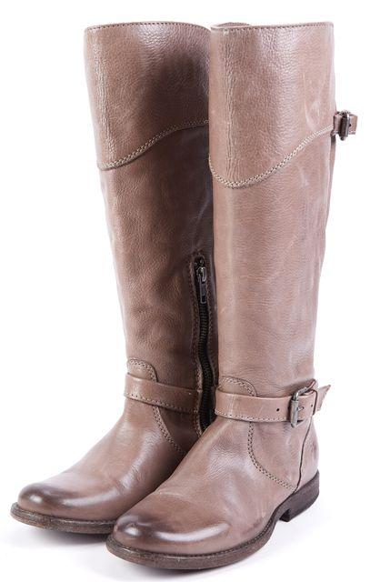 FRYE Dark Oak Brown Leather Mid-Calf Boots