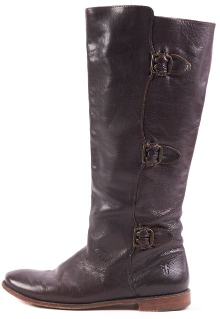 FRYE Brown Leather Knee-high Boot Tall Boots