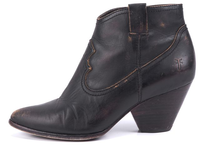 FRYE Brown Leather Distressed Ankle Boot Boots