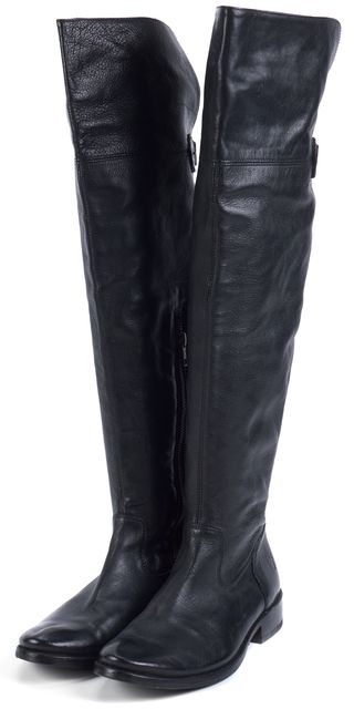FRYE Black Leather Over Knee Boots