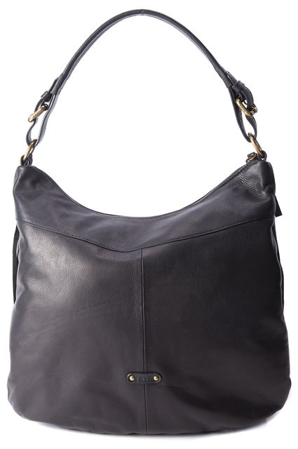 FRYE Black Leather Fringe Hobo Shoulder Bag