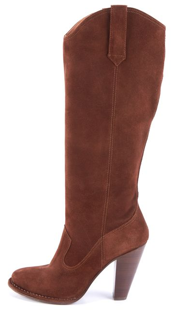 FRYE Brown Suede Knee-high Boots