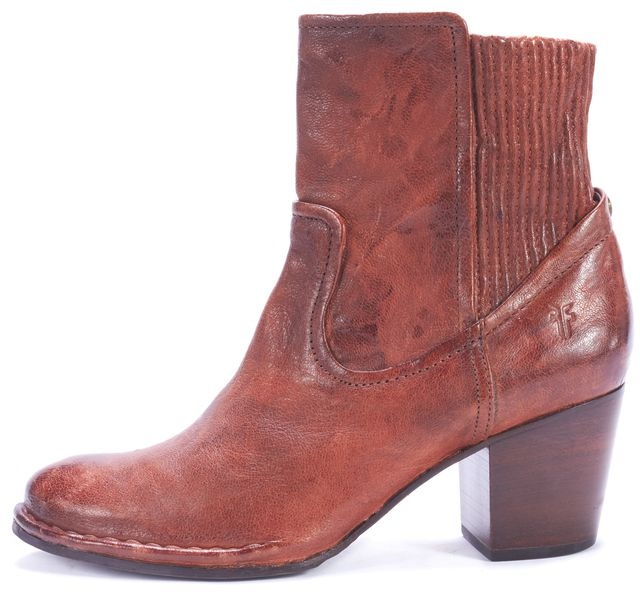 FRYE Brown Leather Ankle Boot Boots