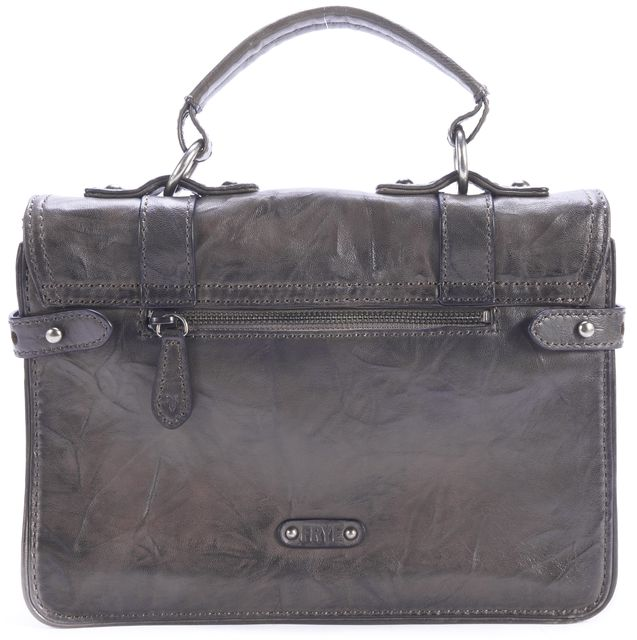 FRYE Gray-Brown Leather Satchel Messenger Bag