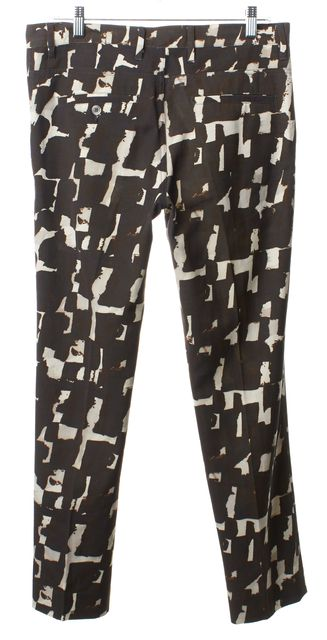 GOLDEN GOOSE Brown Multi Color Print Dress Pants