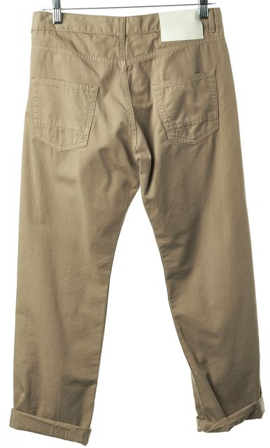 GOLDEN GOOSE Beige Khaki Jill Pant Casual Relaxed Straight Leg Pants