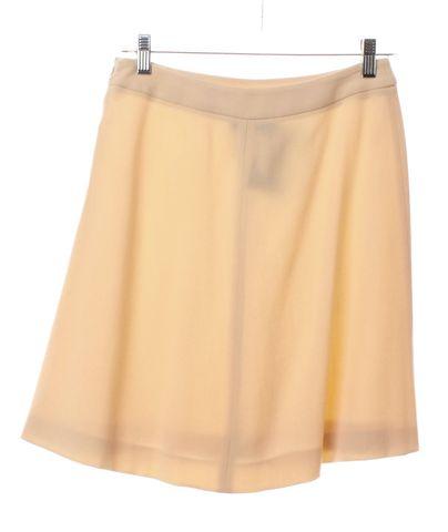 GIORGIO ARMANI Beige Wool A-Line Skirt