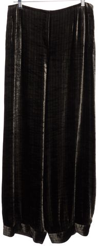 GIORGIO ARMANI Brown Striped Velvet Trousers Pants