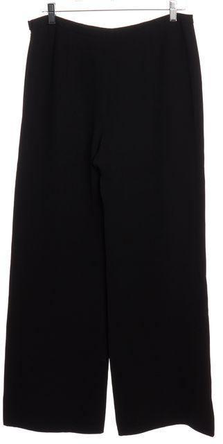 GIORGIO ARMANI Black Silk Wide Leg Trousers Pants