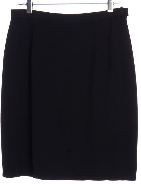 GIORGIO ARMANI Black Wool Straight Skirt
