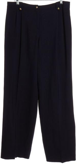 GIORGIO ARMANI Navy Blue Wide Leg Dress Pants
