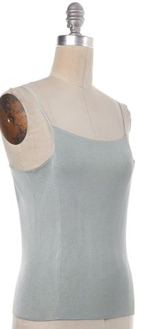 GIORGIO ARMANI Blue Knit Tank Top