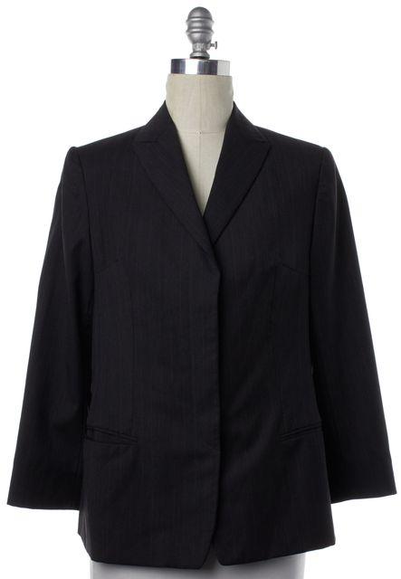 GIORGIO ARMANI Black White Pinstriped Blazer Jacket