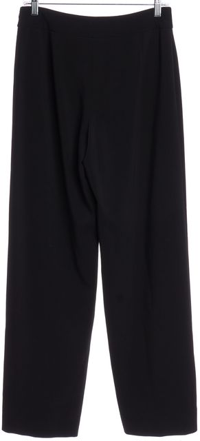 GIORGIO ARMANI Black Wool Straight Wide Leg Dress Pants