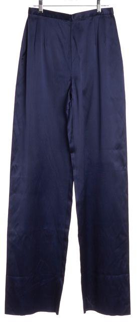 GIORGIO ARMANI Blue Silk Casual Pants