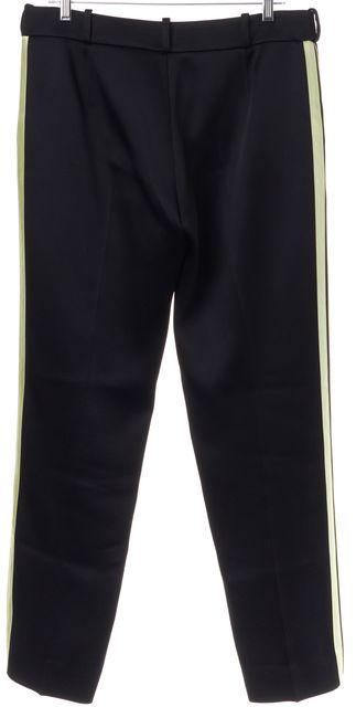 GIORGIO ARMANI Black Satin Gold Side Stripe Cropped Pants