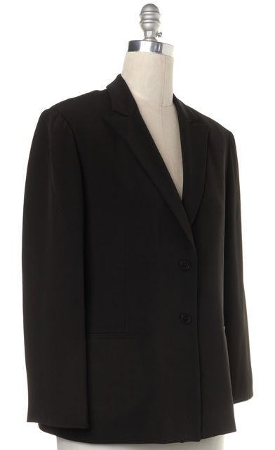 GIORGIO ARMANI Black Two Button Classic Blazer Jacket