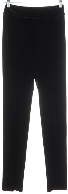 GIORGIO ARMANI Black Velour Pants