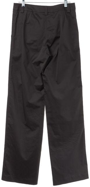 GIORGIO ARMANI Gray Stretch Cotton Trouser Dress Pants