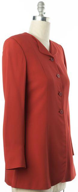 GIORGIO ARMANI Red Basic Long Blazer Jacket