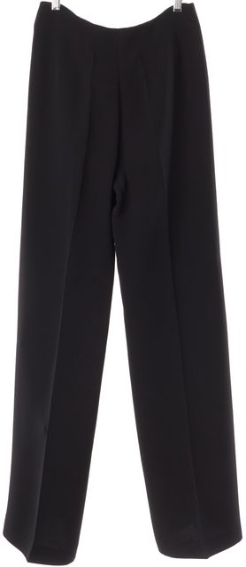 GIORGIO ARMANI Black Silk Dress Pants