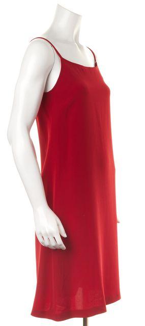GIORGIO ARMANI Red Spaghetti Strap Slip Tank Dress