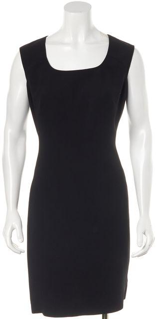 GIORGIO ARMANI Black Wool Sleeveless Sheath Dress