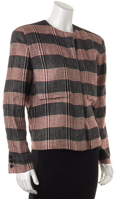 GIORGIO ARMANI Black Red White Abstract Basic Jacket