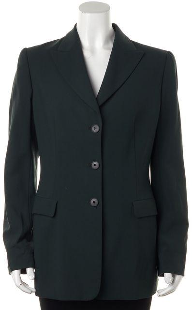 GIORGIO ARMANI Hunter Green Wool Pocket Front Blazer