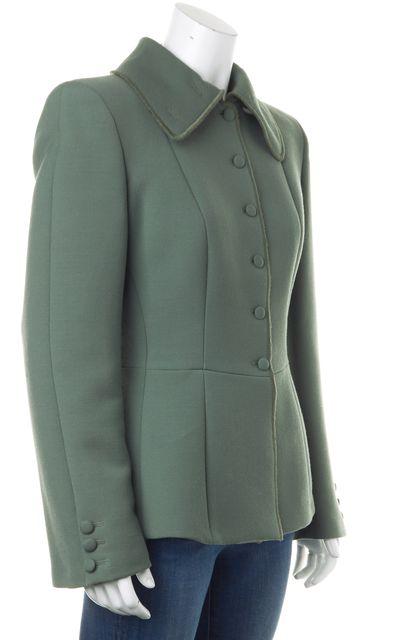 GIORGIO ARMANI Green Wool Basic Jacket Blazer