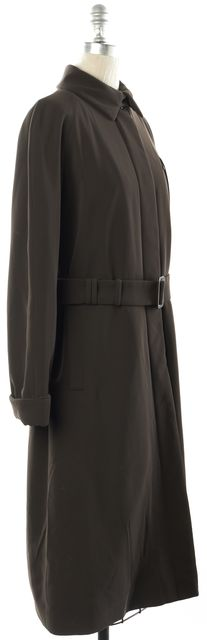 GIORGIO ARMANI Brown Belted Long Trench Coat Jacket