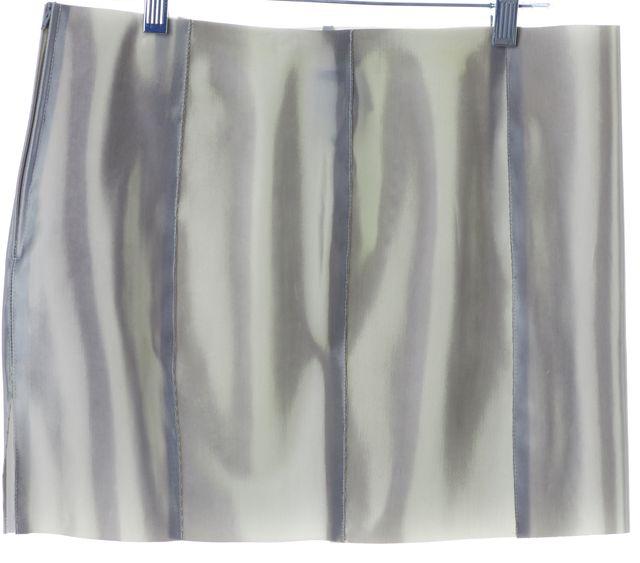 GIORGIO ARMANI Gray Paneled Bodycon Mini Skirt