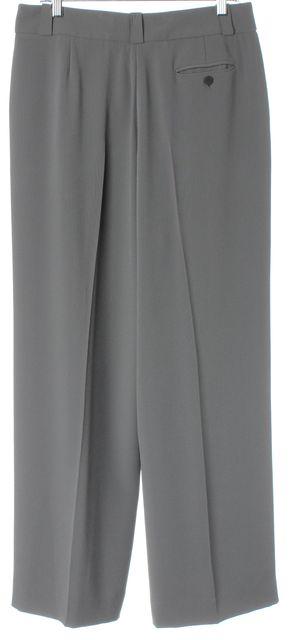 GIORGIO ARMANI Gray Pleated Trouser Dress Pants
