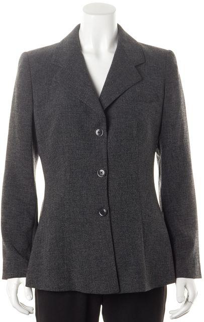 GIORGIO ARMANI Dark Gray 3 Button Pleated Back Blazer Jacket