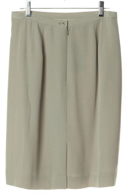 GIORGIO ARMANI Gray Above Knee Length Back Slit Pencil Skirt
