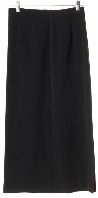 GIORGIO ARMANI Gray Wool Straight Long Skirt