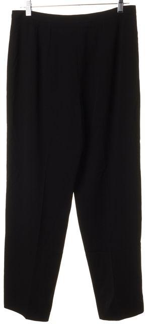 GIORGIO ARMANI Black 100% Woo No Pocketl Dress Pants