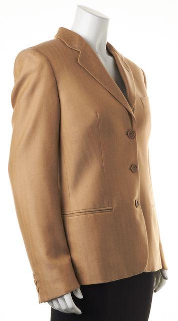 GIORGIO ARMANI Beige Cashmere Blazer Jacket