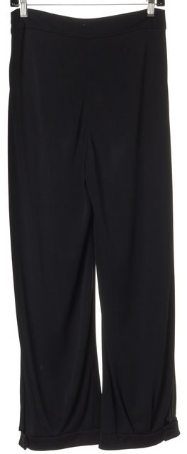GIORGIO ARMANI Black High Rise Trouser Dress Pants