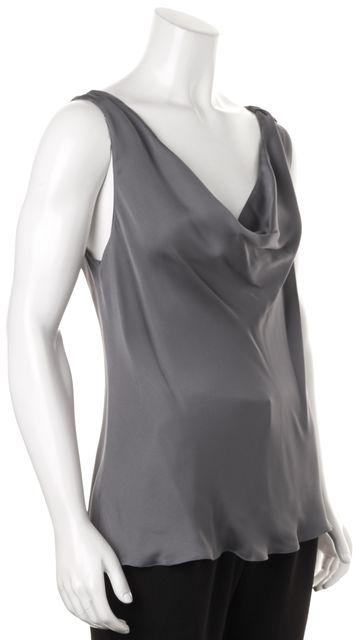 GIORGIO ARMANI Gray Silk Blouse