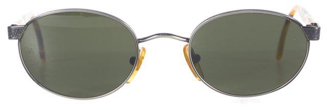 GIORGIO ARMANI Silver Brown Tortoise Small Oval Sunglasses
