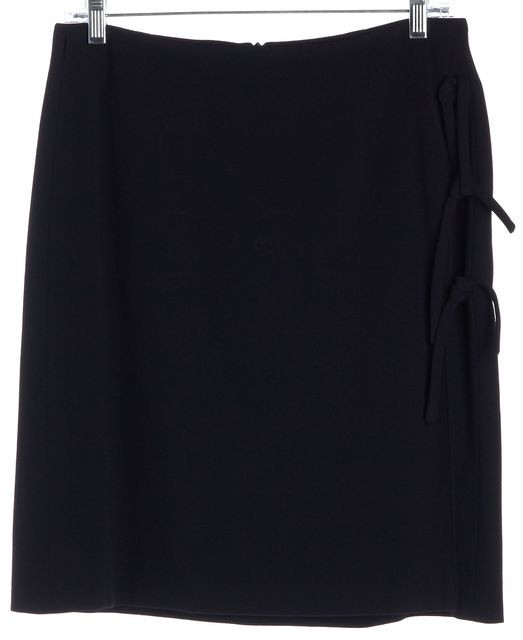 GIORGIO ARMANI Black Wool Straight Skirt