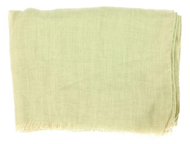GIORGIO ARMANI Chartreuse Raw Edge Unfinished Trim Scarf